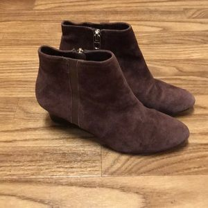 Coach Maya Suede Brown Booties